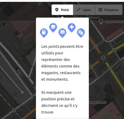 le tutoriel d'édition explique comment créer des points dans OpenStreetMap